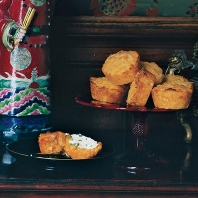 Cheddar Corn Muffins with Jalapeño Butter
