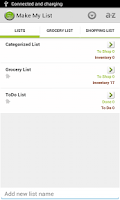 Screenshot of Make My List: To Do/Grocery