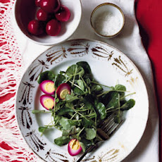 Watercress Salad with Pickled Quail Eggs