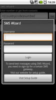 Screenshot of SMS Wizard