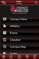 Screenshot of University of Central Missouri