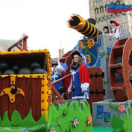 Carnival by Coena le Roux - People Musicians & Entertainers ( blue, orange. color )