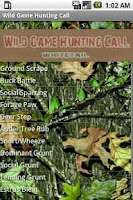 Screenshot of Wild Game Hunting Call