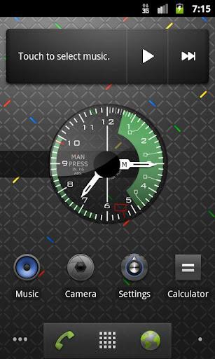 戦闘機。陸軍アナログ時計