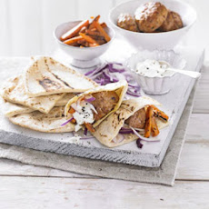 Harissa Turkey Kofta & Carrot Pittas