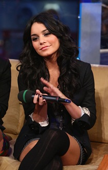 "Vanessa Hudgens visits MTV's ""TRL"" at MTV studios in Times Squar"