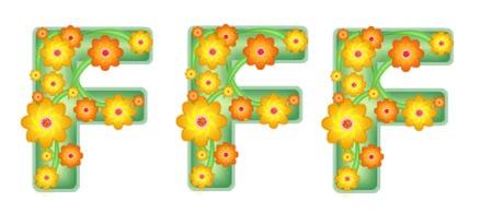 flower text