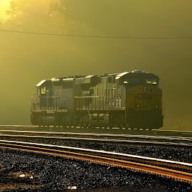 First Light by Keith Johnson - Transportation Trains