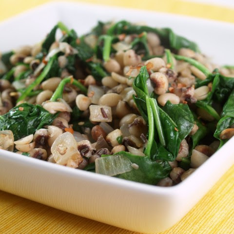 Black Eyed Peas with Spinach