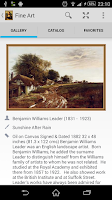 Screenshot of Fine Art widget