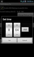 Screenshot of Wifi Wakeup