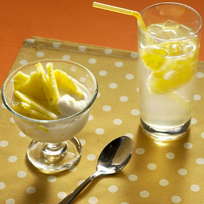 Seltzer with Pineapple-Ginger Syrup
