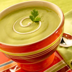 Avocado Soup With Chipotle Cream