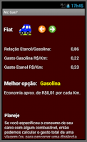 Screenshot of Álcool (Etanol) ou gasolina?
