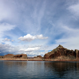 Cloudscape Lake Powell by Kirsten Gamby - Landscapes Cloud Formations ( lake powell, waterscape, cloudscape,  )