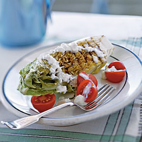 Grilled Romaine with Blue Cheese Dressing