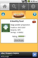 Screenshot of Free Indian Recipes Lite