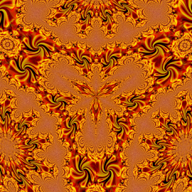 BRIK 2 by Tina Dare - Illustration Abstract & Patterns ( abstract, kaleidoscope, patterns, designs, distorted, oranges, golds, shapes )
