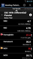 Screenshot of LabCorp Beacon®: Mobile