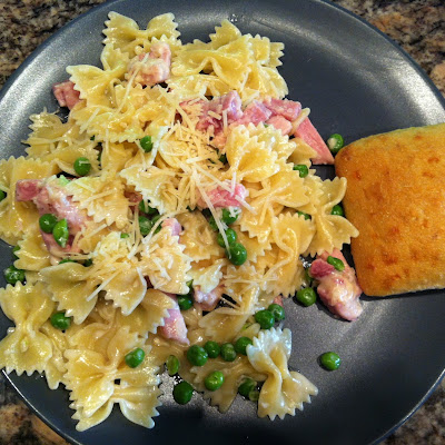 Kid Friendly Ham & Pea Pasta