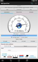 Screenshot of WiFi Speed Test