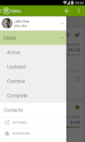 Screenshot of Debtors