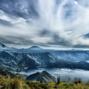 Toba Lake, Indonesia by JudiEndjun Ultrasound - Landscapes Mountains & Hills