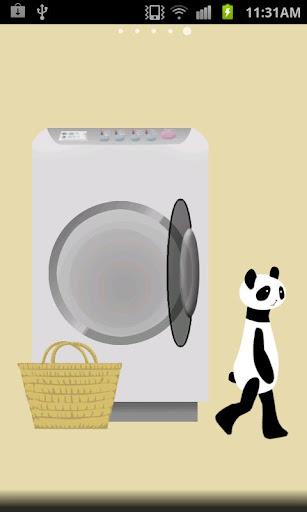 玩免費個人化APP|下載パンダ洗濯ライブ壁紙 app不用錢|硬是要APP