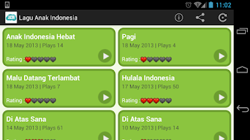 Screenshot of Lagu Anak Indonesia