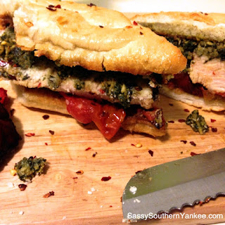 Grilled Turkey Pesto Sandwich