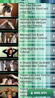 Screenshot of Hairstyle Tutorials
