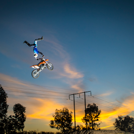 Sunset Indy by Rich Sutherland - Sports & Fitness Motorsports ( motocross, sunset, fmx, motorcycle, stunt )