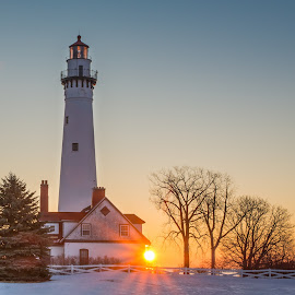 Lighthouse Sunrise by Stevan Tontich - Buildings & Architecture Other Exteriors