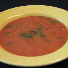 Fresh Cream of Tomato Soup With Basil - Ww 2 Points