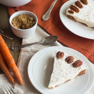 Skinny Frozen Carrot Cake Cheesecake - {Gluten Free, Low Fat + Low Calorie}