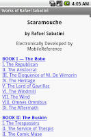 Screenshot of Works of Rafael Sabatini