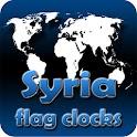 Syria flag clocks icon