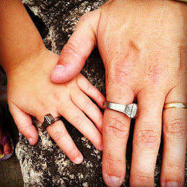 Daddy-Daughter Rings! by Larry McGraw - Babies & Children Hands & Feet