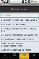 Screenshot of Annuaire OPT