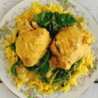 Lemon Chicken with Spinach and Orzo