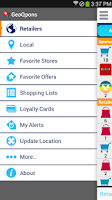 Screenshot of Coupons and Shopping GeoQpons