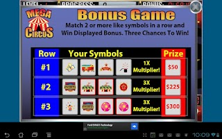 Screenshot of Mega Circus Slot Machine