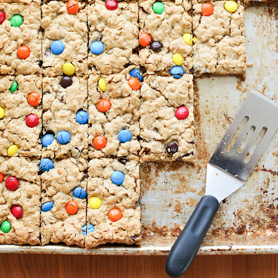 Monster Cookie Bars (naturally gluten free)