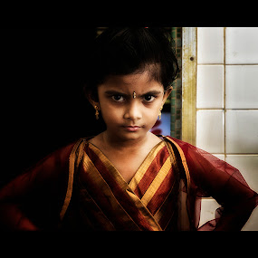 Angry girl by Samaneethi Krishnan - Babies & Children Child Portraits ( children, canon60d, portrait,  )