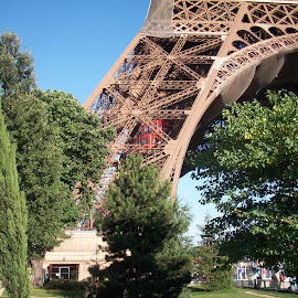 Eiffel Tower bottom view by Tammy Jones Perdue - Buildings & Architecture Statues & Monuments ( paris, eiffel tower, base, france,  )
