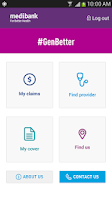 Screenshot of Medibank Mobile