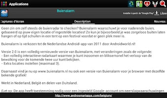 Screenshot of Belgium Android