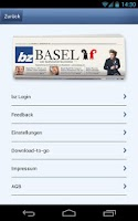 Screenshot of bz Basel Mobile
