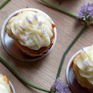 Popcorn Chive Blossom Cupcakes