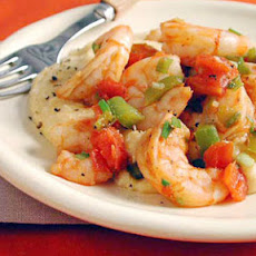 Shrimp and Tomatoes with Cheese Grits